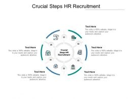 Crucial Steps HR Recruitment Ppt Powerpoint Presentation Icon Objects Cpb