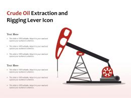 Crude Oil Extraction And Rigging Lever Icon