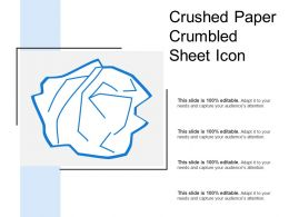 Crushed Paper Crumbled Sheet Icon