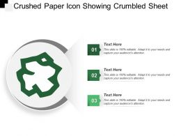 Crushed Paper Icon Showing Crumbled Sheet