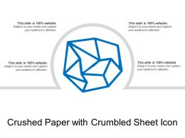Crushed Paper With Crumbled Sheet Icon