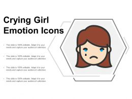 Crying Girl Emotion Icon