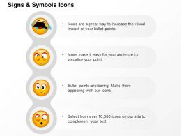 Crying Sad Surprise Confuse Faces Ppt Icons Graphics