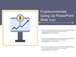 Cryptocurrencies Going Up Powerpoint Slide Icon