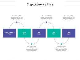 Cryptocurrency Price Ppt Powerpoint Presentation Infographic Template Themes Cpb