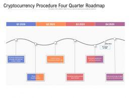 Cryptocurrency Procedure Four Quarter Roadmap