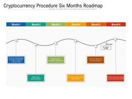 Cryptocurrency Procedure Six Months Roadmap