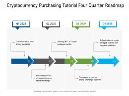 Cryptocurrency Purchasing Tutorial Four Quarter Roadmap