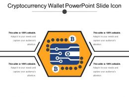 Cryptocurrency Wallet Powerpoint Slide Icon