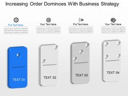 cs Increasing Order Dominoes With Business Strategy Powerpoint Template