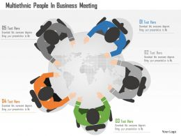 Cs Multiethnic People In Business Meeting Powerpoint Template