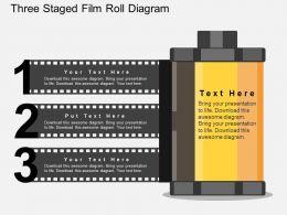 cs Three Staged Film Roll Diagram Flat Powerpoint Design