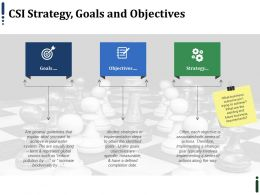 Csi Strategy Goals And Objectives