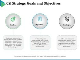 Csi Strategy Goals And Objectives Powerpoint Slide Background Picture