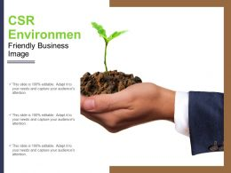 Csr Environment Friendly Business Image