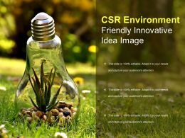 Csr Environment Friendly Innovative Idea Image