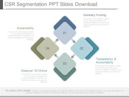 Csr Segmentation Ppt Slides Download