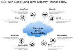Csr With Goals Long Term Sincerity Responsibility And Resources
