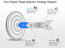 ct Four Staged Target Selection Strategy Diagram Powerpoint Template