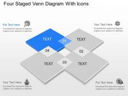Ct Four Staged Venn Diagram With Icons Powerpoint Template
