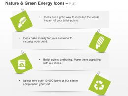 Ct Green Energy Icons Cfl Recycle And Waste Management Ppt Icons Graphics