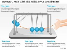 Ct Newtons Cradle With Five Balls Law Of Equiliburium Powerpoint Template