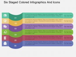Ct Six Staged Colored Infographics And Icons Flat Powerpoint Design