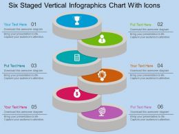 ct Six Staged Vertical Infographics Chart With Icons Flat Powerpoint Design