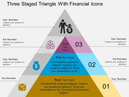 Ct Three Staged Triangle With Financial Icons Flat Powerpoint Design
