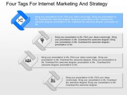 cu Four Tags For Internet Marketing And Strategy Powerpoint Template