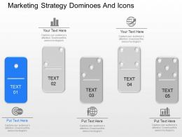 cu Marketing Strategy Dominoes And Icons Powerpoint Template