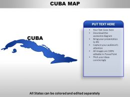 Cuba Country Powerpoint Maps