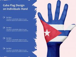 Cuba Flag Design On Individuals Hand