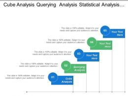 Cube Analysis Querying Analysis Statistical Analysis Strategic Level