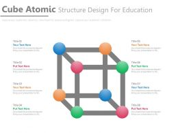Cube Atomic Structure Design For Education Flat Powerpoint Design