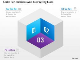 Cube For Business And Marketing Data Powerpoint Template