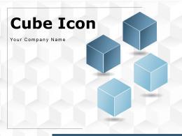 Cube Icon Shape Parcel Geometry Transparent Background