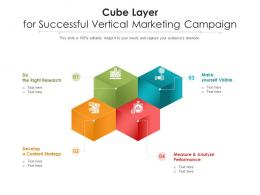 Cube Layer For Successful Vertical Marketing Campaign