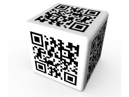 Cube Made With Qr Design Stock Photo