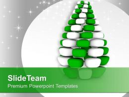 cubed_white_green_pine_tree_innovative_design_powerpoint_templates_ppt_themes_and_graphics_0113_Slide01