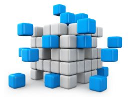 Cubes For Teamwork Theme Stock Photo