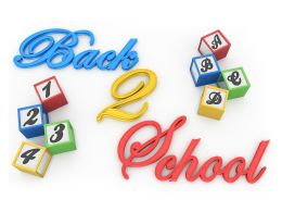 Cubes Of Numbers And Letters With Back To School Concept Stock Photo