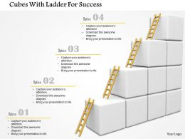 Cubes With Ladder For Success Image Graphics For Powerpoint