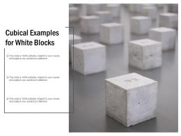 Cubical Examples For White Blocks