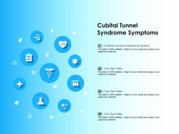 Cubital Tunnel Syndrome Symptoms Ppt Powerpoint Presentation Infographics Slides