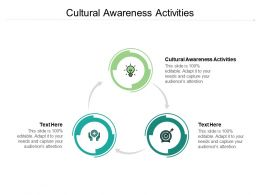 Cultural Awareness Activities Ppt Powerpoint Presentation Slides Example Cpb