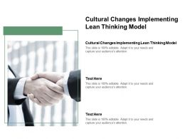 Cultural Changes Implementing Lean Thinking Model Ppt Powerpoint Presentation Summary Example Cpb