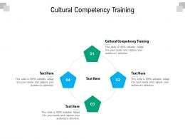 Cultural Competency Training Ppt Powerpoint Presentation Slides Format Ideas Cpb