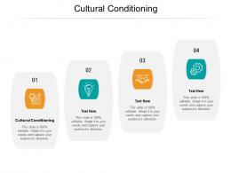 Cultural Conditioning Ppt Powerpoint Presentation Gallery Infographics Cpb