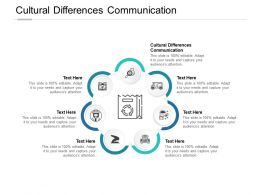 Cultural Differences Communication Ppt Powerpoint Presentation Icon Layout Cpb